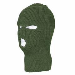 Olive Green Warm Winter Ski and Face Mask