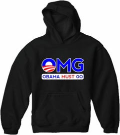 OMG Obama Must Go Adult Hoodie