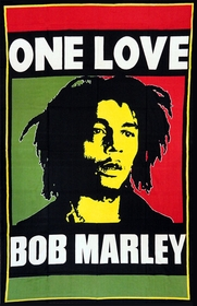 One Love Bob Marley Tapestry ( 55 x 85 )