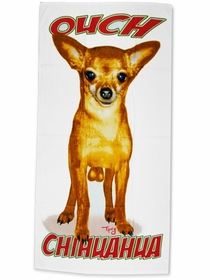 Ouch Chihuahua! Beach and Bath Towel