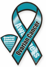 Ovarian Cancer Awareness Ribbon Magnet