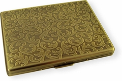 Paisley Brass Finished Cigarette Case (For Regular Size & 100's)