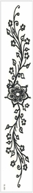 Paisley Floral Glitter Temporary Tattoo