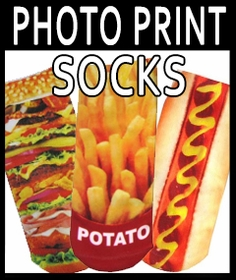 Photo Print Ankle Socks, Clothing & Accesories