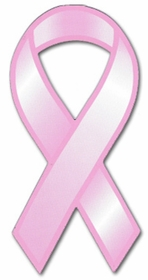 Pink Breast Cancer Awareness Ribbon Car Magnet