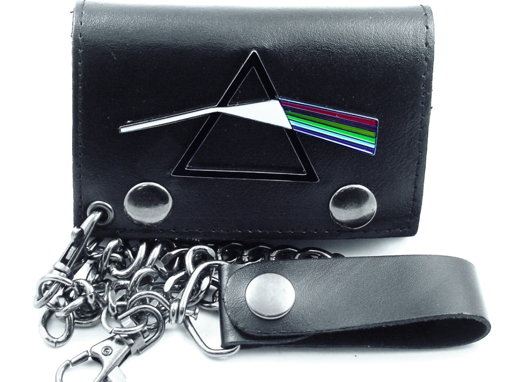 pink floyd dark side gun metal chain wallet. Black Bedroom Furniture Sets. Home Design Ideas