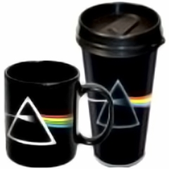Pink Floyd Dark Side Of The Moon Travel and Ceramic Mugs (2 Pack)