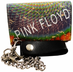 "Pink Floyd Vintage ""Dark Side Of The Moon"" Tri-Fold Chain Wallet"