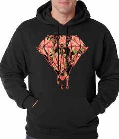 Pink Roses Dripping Diamond Adult Hoodie