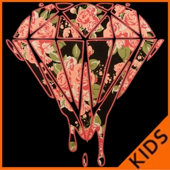 Pink Roses Dripping Diamond Kids T-shirt