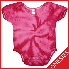 Pink Tie Dye Onesies For Infants