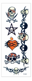 Pirate Skulls Temporary Tattoos
