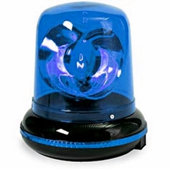 Plug in Blue Rotating Warning Siren Light