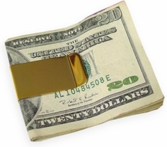Polished Money Clip (Gold)