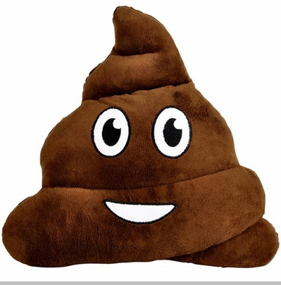 Poop Emoji Smiley Face Stuffed Pillow<!-- Click to Enlarge-->