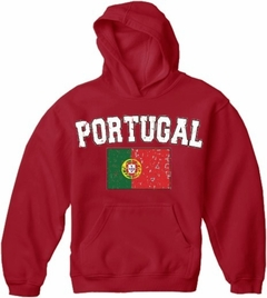 Portugal Vintage Flag International Hoodie
