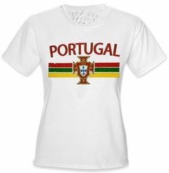 Portugal Vintage Shield International Girls T-Shirt