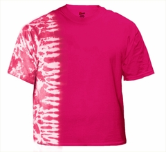 Premium Hand Made Tie Dye T-Shirts - Hot Pink Fusion