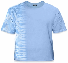 Premium Hand Made Tie Dye T-Shirts - Light Blue Fusion
