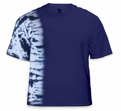 Premium Hand Made Tie Dye T-Shirts - Navy Blue Fusion