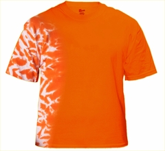 Premium Hand Made Tie Dye T-Shirts - Orange Fusion