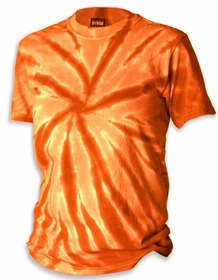Premium Hand Made Tie Dye T-Shirts - Orange Pinwheel