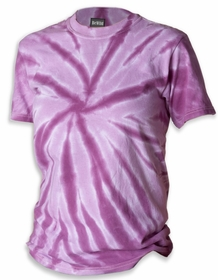Premium Hand Made Tie Dye T-Shirts - Purple Pinwheel