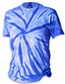 Premium Hand Made Tie Dye T-Shirts - Royal Blue Pinwheel