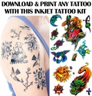 Print Your Own Temporary Tattoo Kit