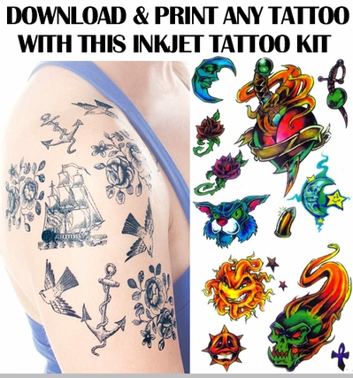 Print your own temporary tattoo kit for Temporary tattoo printer