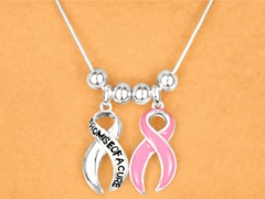 Promise Of A Cure Necklace and Earring Set
