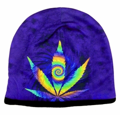 Psychedelic Pot Leaf Beanie