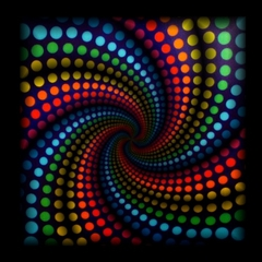 Psychedelic Spiral Sound Responsive EQ T-Shirt
