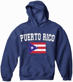 Puerto Rico Vintage Flag International Hoodie