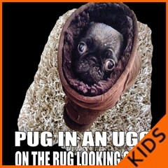 Pug In An Ugg On a Rug Looking Snug Kids T-shirt