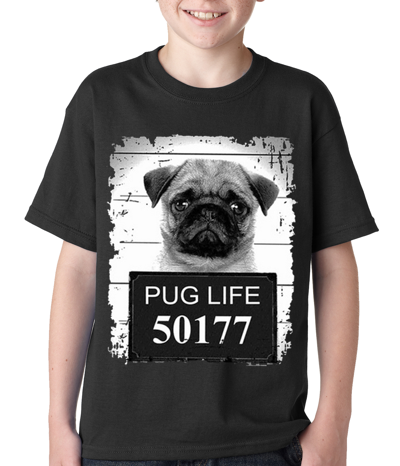 pug shirts for kids mug shot pug life funny kids t shirt 6982