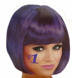 Purple Colored Wigs - Dark Purple Wig