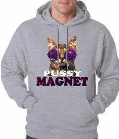 Pussy Magnet Funny Kitten Adult Hoodie