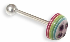 Rainbow Button Barbell