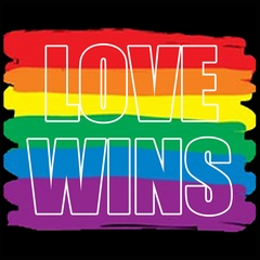 Rainbow Love Wins Gay Marriage Equality Mens T-shirt