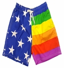 Rainbow Pride American Flag Bathing Suit