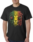 Rasta Colored Lion Mens T-shirt