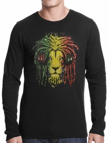 Rasta Colored Lion Thermal Shirt