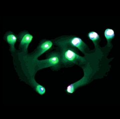 Raver Hands LED Light Show Pair of Gloves (One Color)