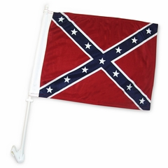 Rebel Confederate Car Window Flag