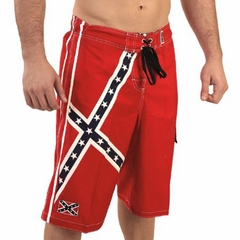 Rebel Confederate Flag Swim trunks / Board Shorts