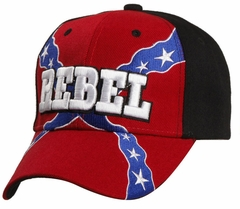 Rebel Confederate Flag Velcro Adjustable Hat