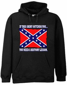 Rebel & Redneck Sweatshirts - Confederate Flag History Lesson Hoodie