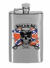 Rebel To The End Confederate Flag 6 oz. Alcohol Flask
