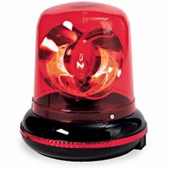 Red Plug in Rotating Warning Police Siren Light